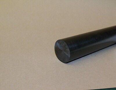 """Delrin/Acetal Rod Black 5/8"""" diameter 6"""" long"""
