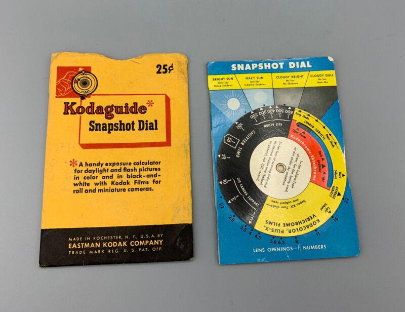 Kodak Snapshot Kodaguide Exposure Calculator in Original Envelope, Vintage