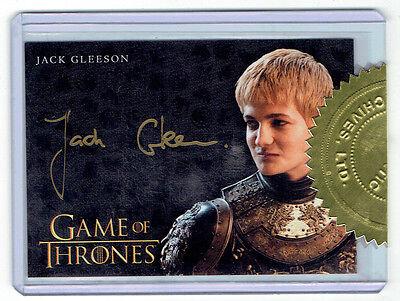 Jack Gleeson as Joffrey Baratheon GAME OF THRONES Season 4 Autograph Card Auto