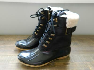 Sperry Top-Sider For J.Crew Leather Shearwater Boots buckle b4254 8 black $228