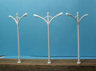 N SCALE-RAILROAD ACCESSORIES-2 LAMP STREET & HIGHWAY LIGHTS-8 PCS. W/DIAGRAM-16V, used for sale  Las Vegas