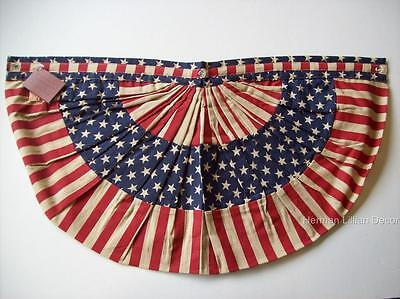 "Stars and Stripes Red White Blue Patriotic Flag Bunting Banner Cotton ""Betsy"""