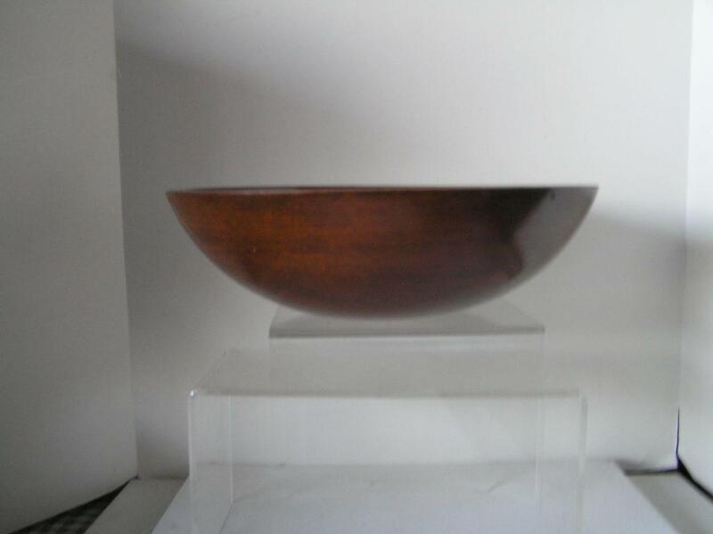 """Vintage Munising Marked Dark Primitive Dough Wood Bowl 13.5 x 4"""""""