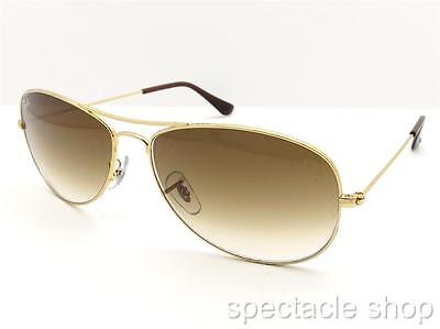Ray Ban 3362 Cockpit 001/51 Gold Brown Gradient New Authentic (Ray Ban Deals Usa)