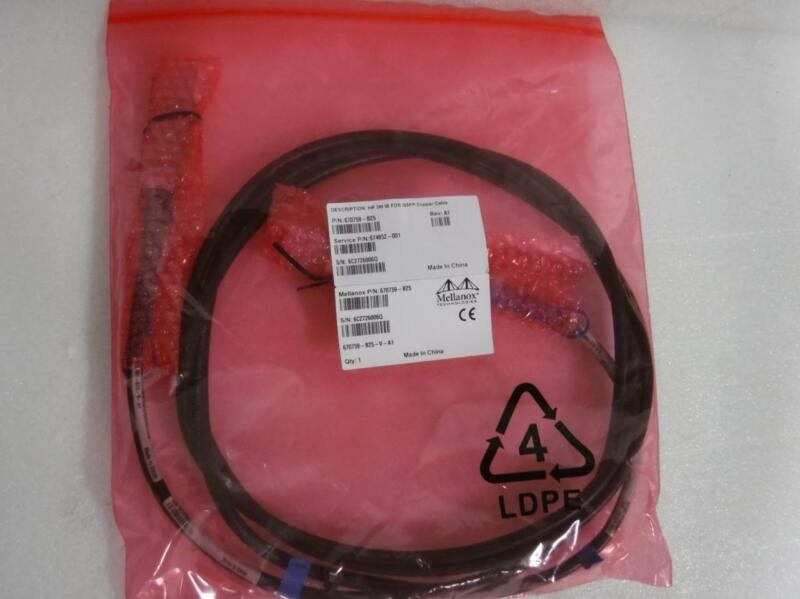 NEW HPE 674852-001 InfiniBand FDR QSFP Direct Attach Copper Cable DAC 670759-B25