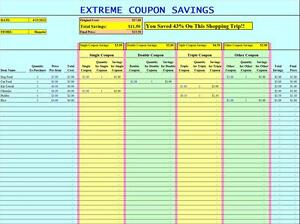 extreme couponing tracking spreadsheet excel grocery list. Black Bedroom Furniture Sets. Home Design Ideas