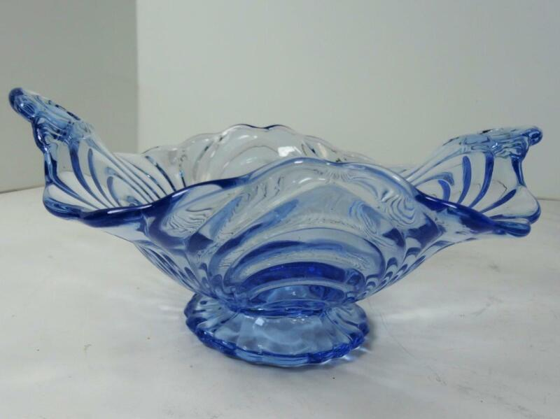ELEGANT GLASS CAMBRIDGE BLUE CAPRICE  BOWL IN BEAUTIFUL CONDITION