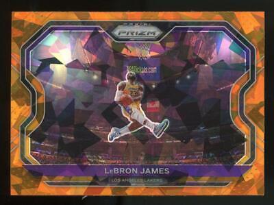 2020 Panini Prizm Orange Ice #1 LeBron James Lakers