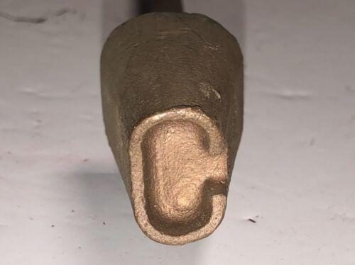 OLD Vintage Horn Branding Iron Letter C 1950
