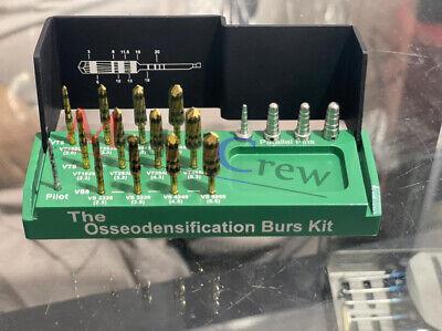 Dental Bur Drills Dental Implant Kit Surgical Green 13 Pcs
