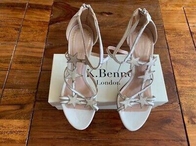LK Bennett x Jenny Packham leather white UK 5 38 BNWT RRP £350 - imperfect