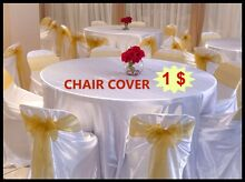 50% Discount On Party Hire Chair cover $1 Sash 40c Table Cloth $3 Campbelltown Campbelltown Area Preview