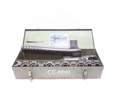 Burndy Y34a Hypress W 19 Assorted Dies Hydraulic Manual Cable Wire Crimper