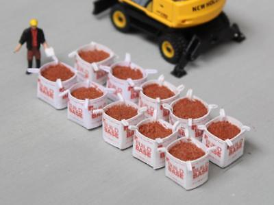 BB MODEL TONNE BAGS W/ BUILDERS SAND LOADS OO/HO GAUGE 1/76 - PACK OF 10 for sale  Shipping to Ireland