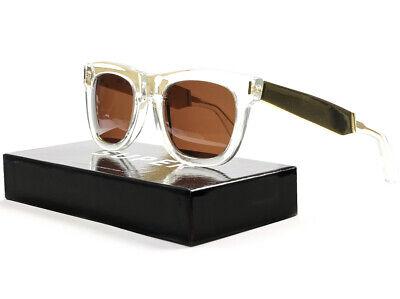 RETROSUPERFUTURE Super Ciccio Sunglasses SU894 Gold Francis Crystal / Brown (Super Sunglasses Italy)