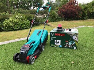 Bosch Rotak 32 Li Electric Battery Cordless Lawnmower - Virtually New!