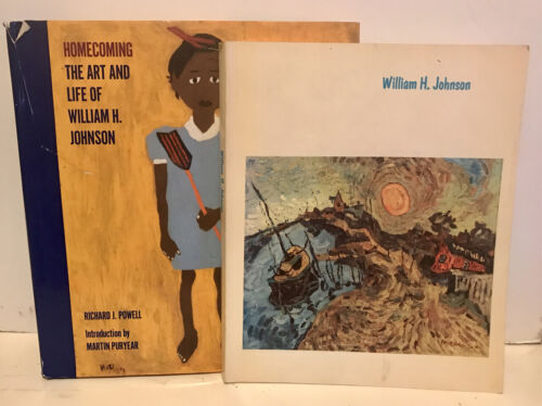 2 BOOKS WILLIAM H. JOHNSON HOMECOMING ART LIFE OF+ADELYN D BREESKIN SMITHSONIAN
