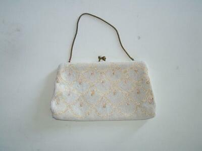 1920s Handbags, Purses, and Shopping Bag Styles Vintage 1920's Jorelle Bags Made in Belgium Beaded Pearl Evening Purse $14.99 AT vintagedancer.com
