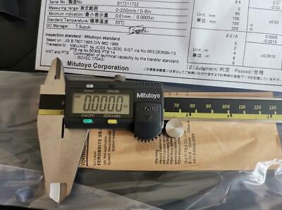 0-8 0-200mm Absolute Digimatic Caliper Mitutoyo 500-197-30 New 0.00050.01