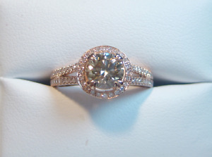 New Split Shank Natural Pink/Brown SI1 Engagement Ring
