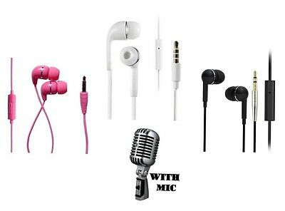 IN EAR EARPHONES HEADPHONES WITH MIC EXTRA BASS FOR IPHONE IPOD SAMSUNG HTC MP3