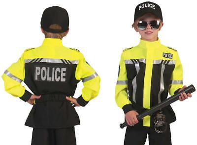 Polizist Polizei Motorradpolizist Kinder Karneval Fasching Kostüm 116-152 ()
