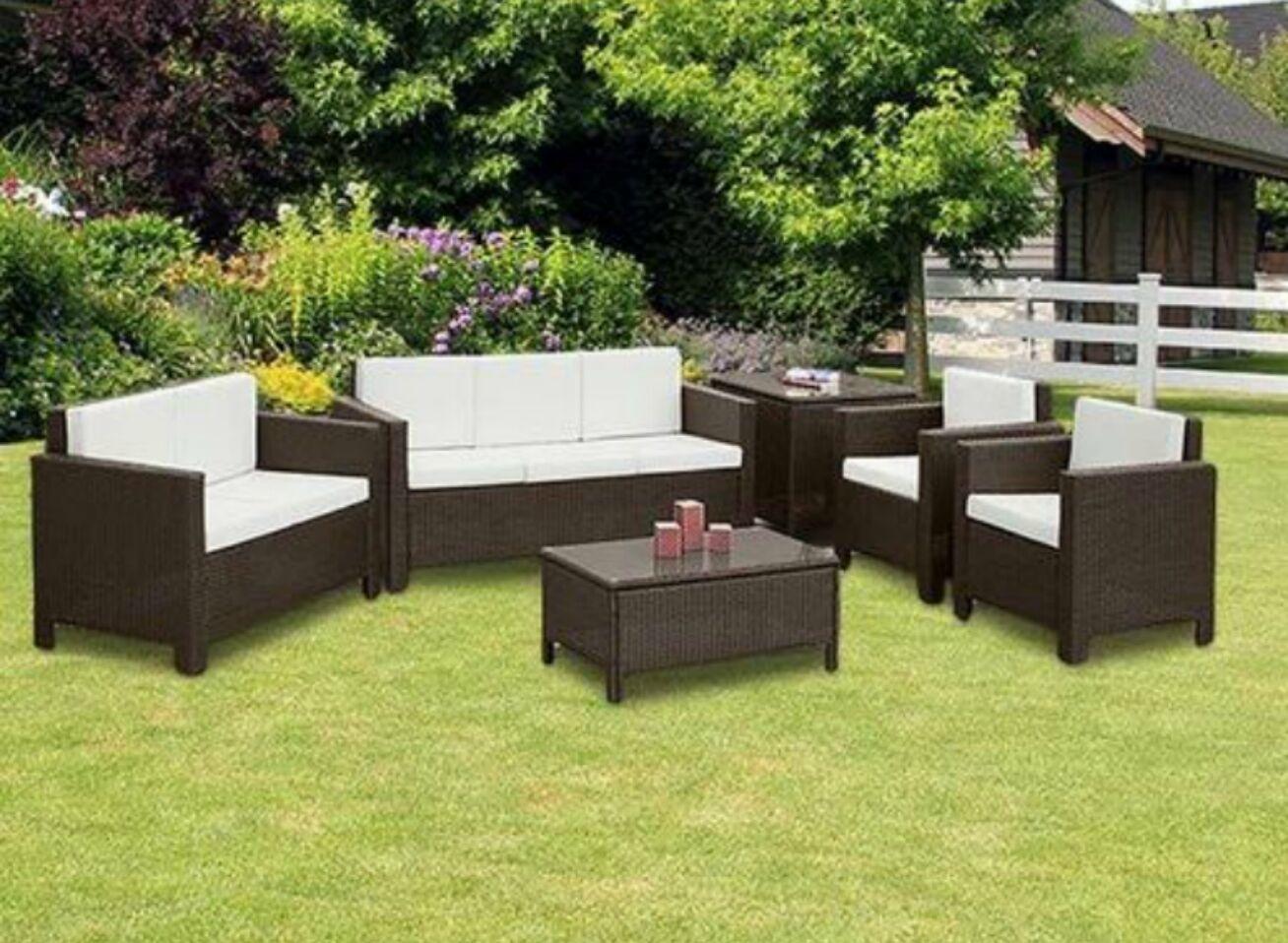 Garden Furniture - RATTAN GARDEN FURNITURE SET SOFA CHAIRS TABLE CONSERVATORY OUTDOOR PATIO