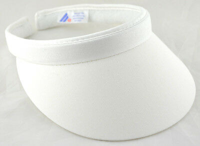 (Cotton Twill Clip-On Visor White)