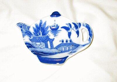 "4 3/4"" Tea Pot Plate to Hold YourTea Bag Ceramic"