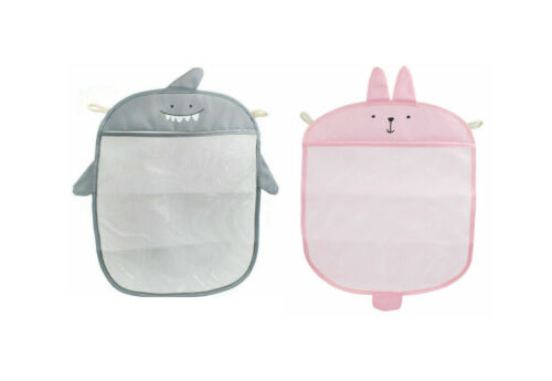 Baby Bath Time Cute Toy Storage Suction Bag Cup Bathroom Organiser Shark Bear