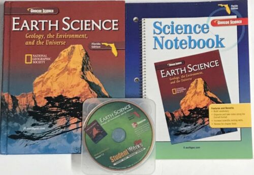 High School Earth Science Text Workbook CD Curriculum Homeschool Bundle