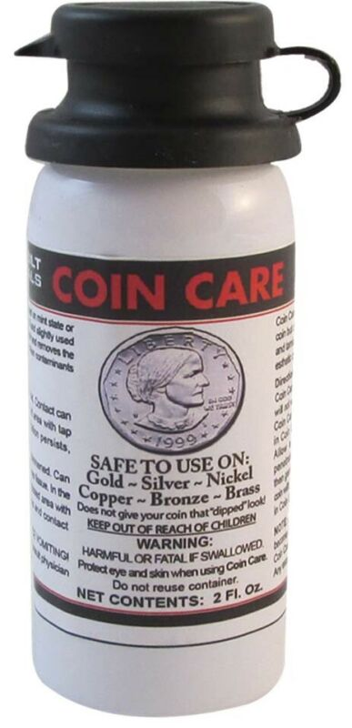Coin Care Cleaner Brightener Cleaning Fluid Gold Silver Copper Brass Nickel