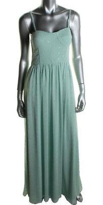 AQUA ~ Mint Green & Gold Foiled Chiffon Corset Bodice Evening Gown 12 NEW $258 Gold Corset Bodice