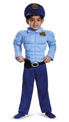 Police Costume Toddler (Police Officer Costume Toddler 2T Policeman Cop Muscle Outfit Dress Up Child)
