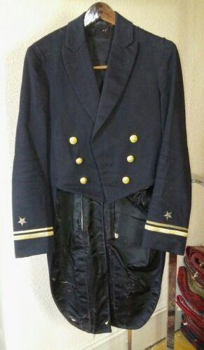 US Navy Officer Formal (Mess Dress) Uniform Tailcoat, Lt jg, Tailor Label - 1912