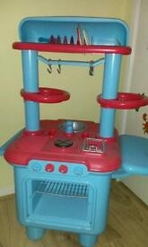 Toy kitchen with accessories for sale