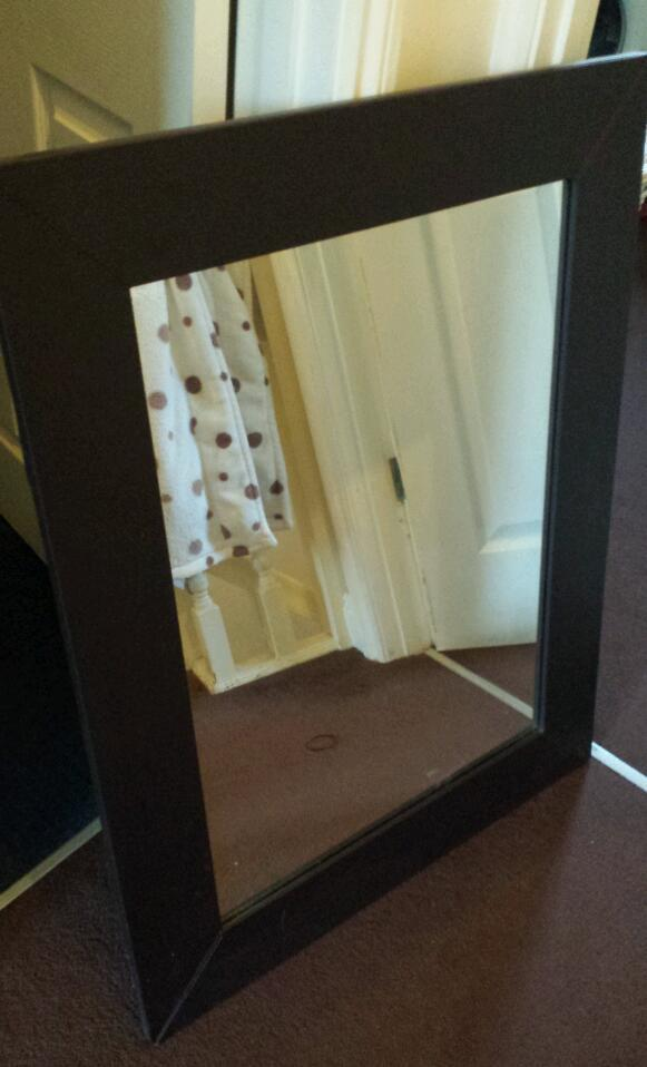 Brown Faux Leather Mirror Faux Leather Mirror