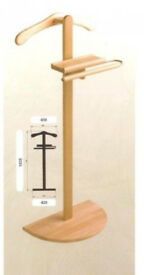 Hagspiel Valet Stand Coat-Stand Beech Wood Natural Varnish Natural lacquer