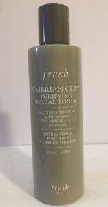 Fresh Umbrian Clay Purifying Facial Toner Mattifies Skin 6.7oz SEE DETAILS