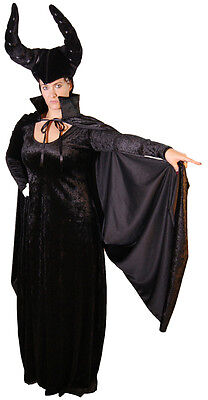 Stepmother-Fairy-Queen MALEFICENT CAPE & HEADDRESS One Size (Scary Fairy Halloween-kostüme)
