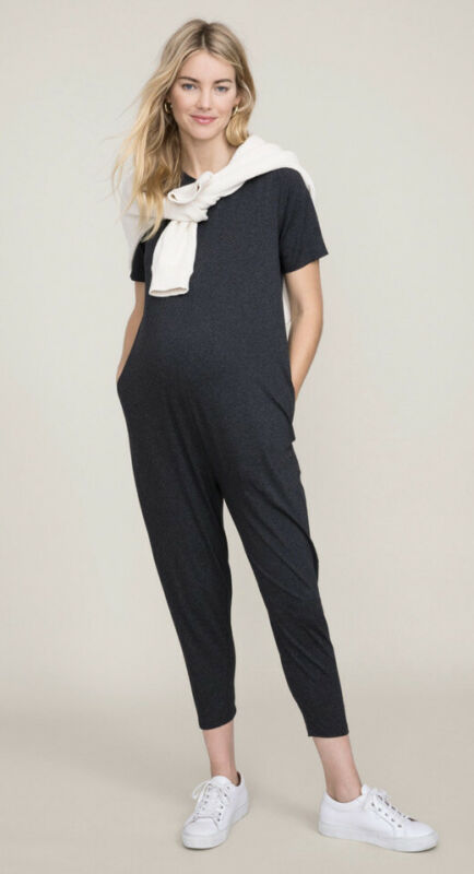 Hatch Collection Maternity The Walkabout Jumper Jumpsuit NWT Sz 2 8/10 $258