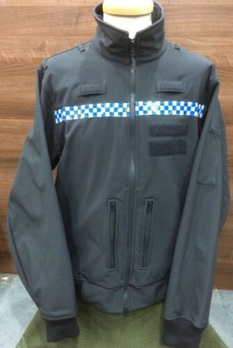 Genuine Ex Police Issue Black Windproof Soft Shell Jacket Grade 1 Various sizes