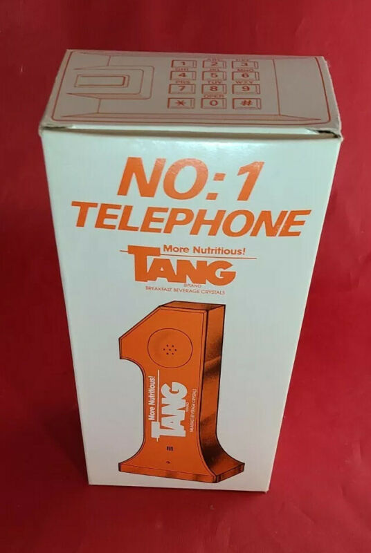 TANG PHONE VINTAGE! RARE BRAND NEW FACTORY SEALED! BREAKFAST BEVERAGE!