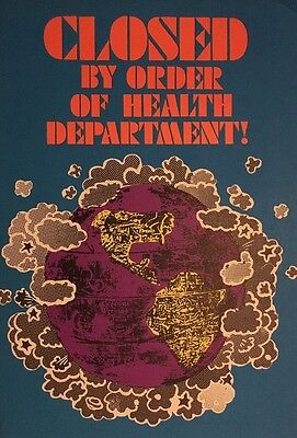 Closed By Order Of The Health Department Vintage Poster Earth 1960's Hallmark
