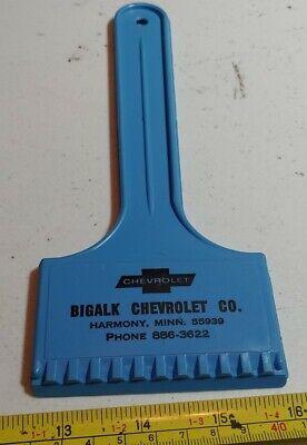 Vintage Bigalk Chevrolet Co Harmony Minnesota Advertising Car Window Scraper