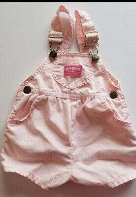 vintage Oshkosh overall shorts pink floral 6mths