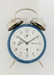 Mechanical Double-Bell Alarm Clock MM11160236, Made in Europe, Series BLUE