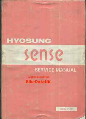 Hyosung SD 50 Sense (1997->) Factory Work-Shop Service Repair Manual Book >>>>