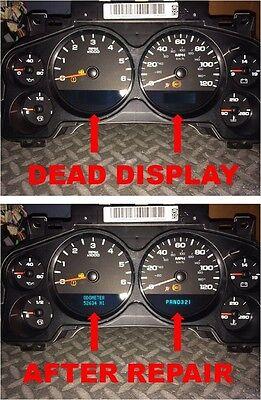 07 08 09 10 GM Chevrolet Silverado Tahoe Avalanche Speedometer Cluster Repair