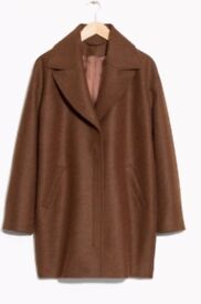 Brown Wool Coat - And other stories Size 8/34